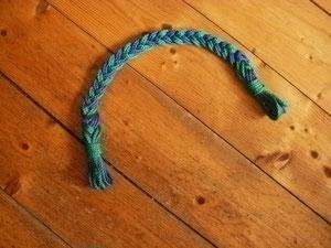 Stirnriemen 45 cm lang in blau,grün