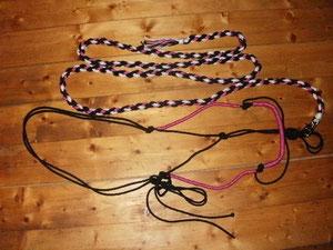 Knotenhalfter mit passendem Führstrick