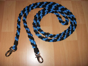 Hundeleine 2,40cm lang  blau,schwarz