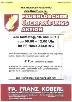 Feuerlöscherüberprüfung 18.05.2013