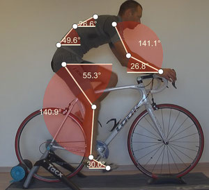 Analyse du mouvement : Angulation analyse posturale cyclistes