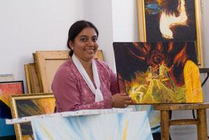Inmitten meiner Gemälde