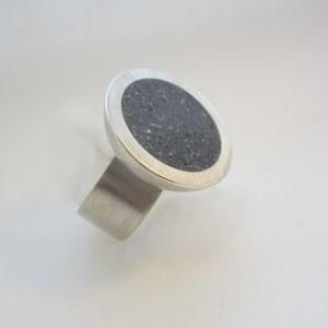 Silberring mit Beton - Ag 925/Beton