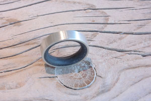 Ring Inside-Out  - Ag 925/Beton