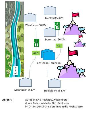 Detaillierte Anfahrtsbeschreibung über Googlemaps