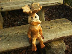 kleiner Elch aus Esskastanie