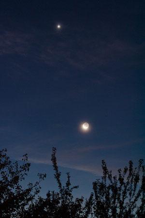 Mjesec i Venera u zoru 13.10.2012.
