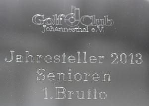 Maschinengravur, Golfclub, Gravur Silberteller Tablett
