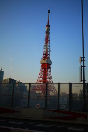 東京タワーな~んて叫びながらあっという間につきました