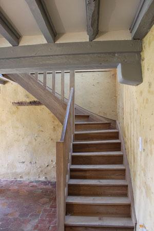 Escalier en chêne (photo)