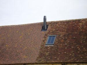 Chassis de toit type Vélux à meneau en pose encastrée (photo)
