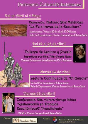 cartel de actividades abril 2013
