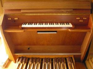 Orgel in Giflitz, Spieltisch