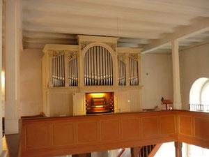 Orgel in Wellen, Prospekt