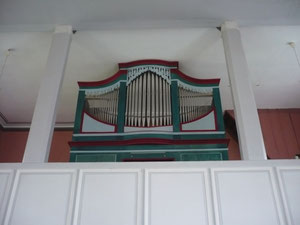 Orgel in Dehringhausen, Prospekt