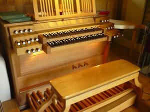 Orgel in Bergheim, Spieltisch