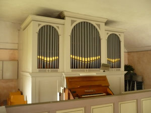 Orgel in Mehlen, Prospekt