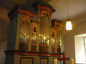 Orgel in Gellershausen, Prospekt