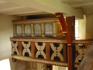 Orgel in Hüddingen, Prospekt