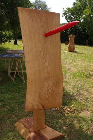 """Samurai, aus dem Zyklus """"Cipangu - mythisches Japan"""", Holz"""
