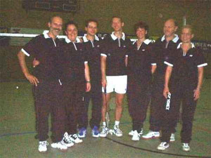3.Mannschaft v.l.: Peter Röder, Andrea Schmitt, Andreas Häger, Jan Stratmann, Sylvia Braun, Hans-Walter Müller und Christina Weck