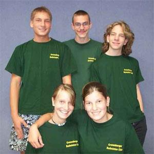 1.Jugendmannschaft v.l.: Aljoscha Schlicht, ?, Manuel Hoppe, Nora Kathmann und Jonas Kläs