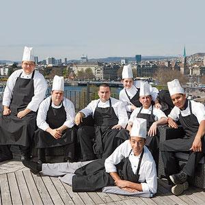 Das Küchen-Team vom Restaurant Opera