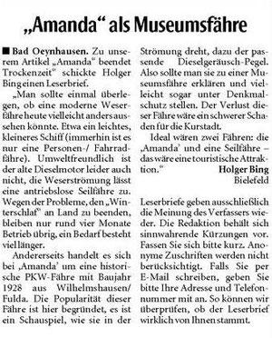 Neue Westfälische 25.05.2012