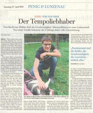 Freie Presse Penig/Lunzenau 27.04.2013