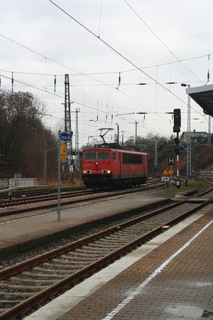 155 033 im Döbelner Hauptbahnhof