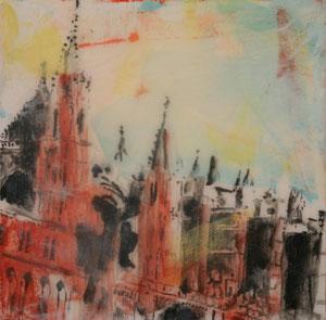 Mallorca.Palma.Kathedrale1.Acryl/Leinwand.100x100cm