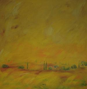 Toskana3.Acryl/Leinwand.120x120cm