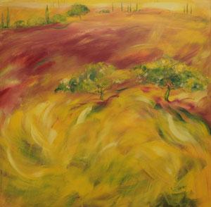 Toskana2.Acryl/Leinwand.120x120cm