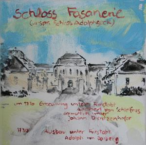 Schloss Fasanerie.Acryl/Leinwand.20x20cm