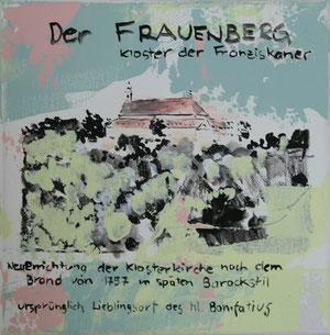 Der Frauenberg.Acryl/Leinwand.20x20cm
