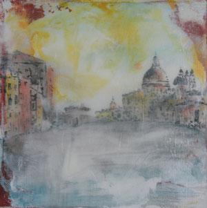 Venedig.Canal Grande.Acryl/Leinwand.20x20cm