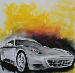 Ferrari2.Acryl/Leinwand.120x120cm
