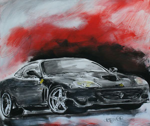 Ferrari3.Acryl/Leinwand.120x120cm