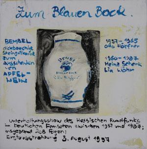 Zum Blauen Bock.Acryl/Leinwand.20x20cm