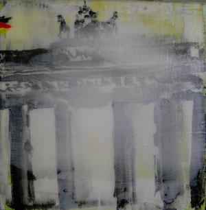 Berlin.Brandenburger Tor4.Acryl/Leinwand.20x20cm