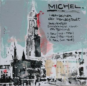 Der Michel.Acryl/Leinwand20x20cm