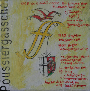 Fuldaer Fastnacht.Acryl/Leinwand.20x20cm