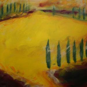 Toskana1.Acryl/Leinwand.120x120cm
