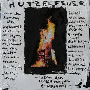 Hutzelfeuer.Acryl/Leinwand.20x20cm