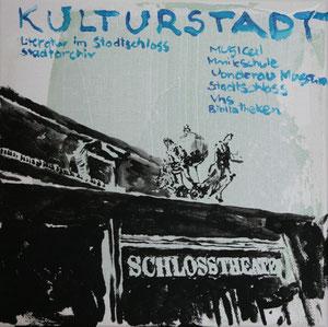 Das Schlosstheater.Acryl/Leinwand.20x20cm