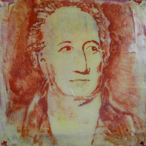 Goethe.Acryl/Leinwand.20x20cm