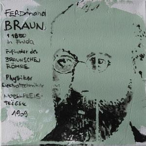 Ferdinand Braun.Acryl/Leinwand.20x20cm