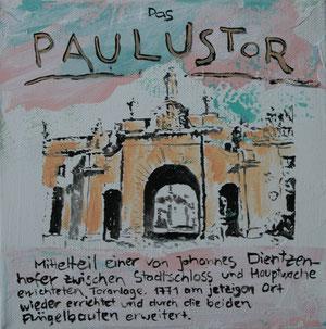 Das Paulustor.Acryl/Leinwand.20x20cm