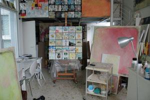 Blick ins Atelier.25xFulda.Acryl/Leinwand.104x104cm