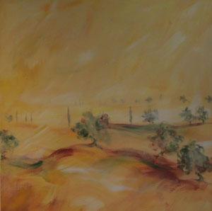 Toskana5.Acryl/Leinwand.80x80cm